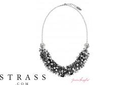 """Collar """"Las Vegas Ghost Bar Silvershade"""" , con Cristales originales Swarovski"""