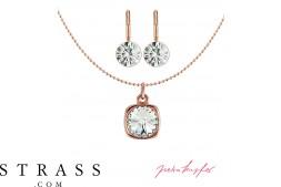 """Joyas Set """"Roségold Rivoli"""" Crystal, con Cristales originales de Swarovski"""
