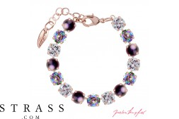 "Brazalete ""Rosi"" Medium Paradise & Purple Mix , con Cristales originales Swarovski"