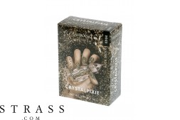 CRYSTAL PIXIE EDGE| DIY Diseño de uñas bricolaje con cristales Swarovski | Nail Box Pixie - Rock Shock