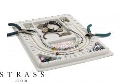 Tablero de diseño para ensartar cuentas y collares de diseño, 23.0cm x 33.0cm
