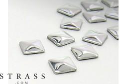 "Remaches ""Metallics"" Hotfix Cristales de Swarovski | Quadrado 3.0mm, Plata polished 300 Piezas"