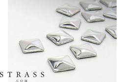 "Remaches ""Metallics"" Hotfix Cristales de Swarovski | Quadrado 7.0mm, Plata polished 100 Piezas"