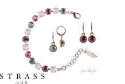 "Joyas Set ""Rosi"" Royal Rose, con Cristales originales Swarovski"