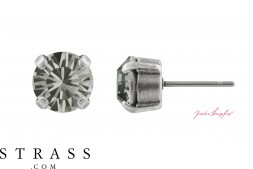 "Pendiente ""Sensillo"" Black Diamond con Cristales originales de Swarovski"