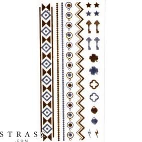 "Autoadhesivo ""Metallic Shiny"" Tatuajes del cuerpo (PR7910-01111)"