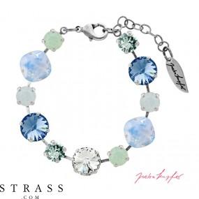 "Brazalete ""Primavera"" Pastell Mix Sapphire, con Cristales originales de Swarovski"
