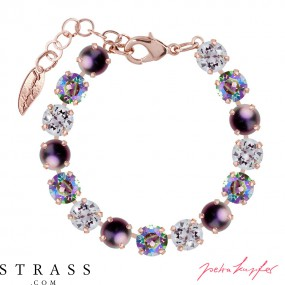 "Brazalete ""Rosi"" Medium Paradise & Purple Mix , con Cristales originales Swarovski"