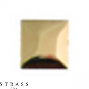 "Remaches ""Metallics"" Hotfix Cristales de Swarovski | Quadrado 7.0mm, Oro polished 100 Piezas"