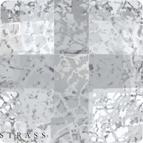 Cristales de Swarovski 2493 Crystal (001) Silver Patina (SILPA)