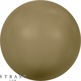 Cristales de Swarovski 5810 Crystal (001) Antique Brass Pearl (402)