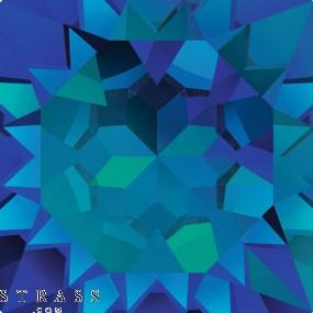 Cristales de Swarovski 6215 Crystal (001) Bermuda Blue (BBL)