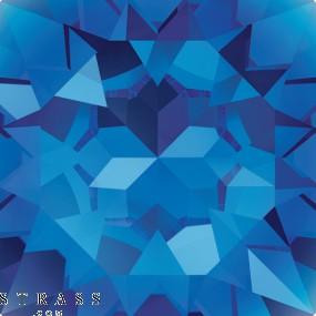 Cristales de Swarovski 2770 Capri Blue (243)