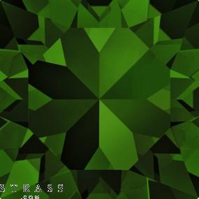 Cristales de Swarovski 6128 Dark Moss Green (260)
