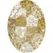 Cristales de Swarovski 4127 Crystal (001) Gold Patina (GOLPA)
