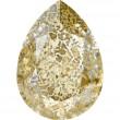 Cristales de Swarovski 4320 Crystal (001) Gold Patina (GOLPA)