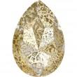 Cristales de Swarovski 4327 Crystal (001) Gold Patina (GOLPA)