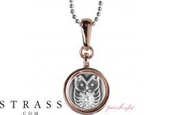"""Collo """"Chelsea Owl"""", con Cristalli originali di Swarovski"""