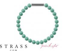 """Bracelet """"Pearl braccialetto Mini"""" Jade Pearl, con Cristalli originali di Swarovski"""