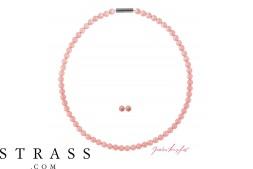 """Monili Set """"Perla Set"""" Pink Coral Pearl, con Cristalli originali di Swarovski"""