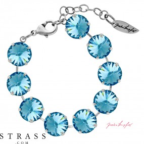 "Bracelet ""Rivoli"" Large Aquamarine, con Cristalli originali di Swarovski"