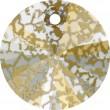 Cristalli a Swarovski 6428 Crystal (001) Gold Patina (GOLPA)